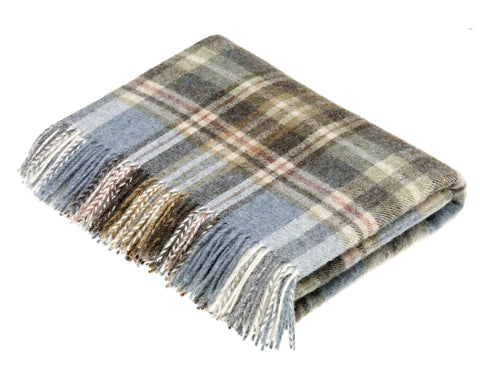 Lake Blue Wool Throw - East Arbor Goods
