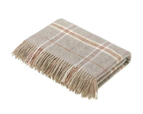 Sandstone Shetland Wool Throw - East Arbor Goods