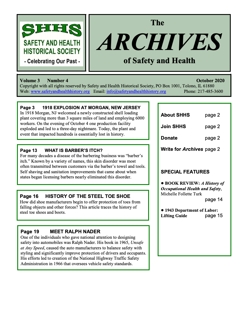Volume 3 Number 4 - The Archives Of Safety And Health