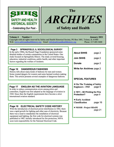 Volume 4 Number 1 - The Archives Of Safety And Health