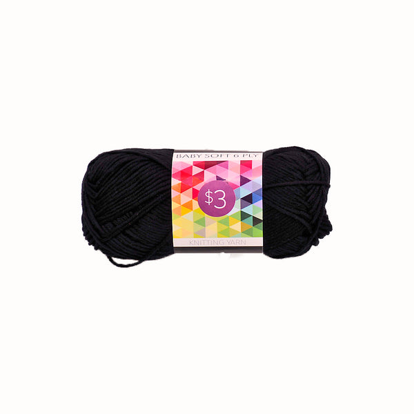 Knitting Yarn Baby Soft - Black