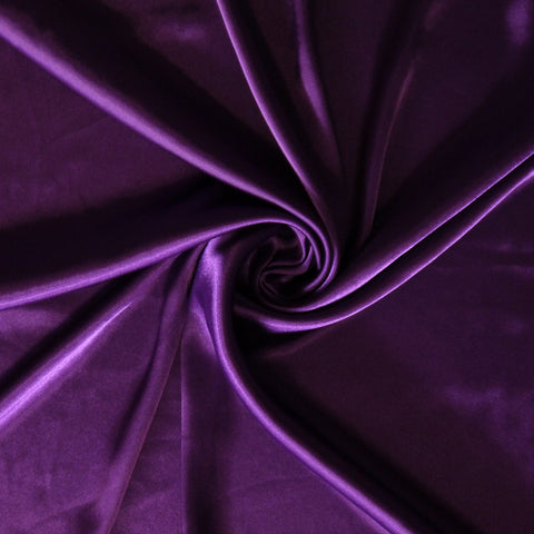 Satin charmeuse - Dark purple