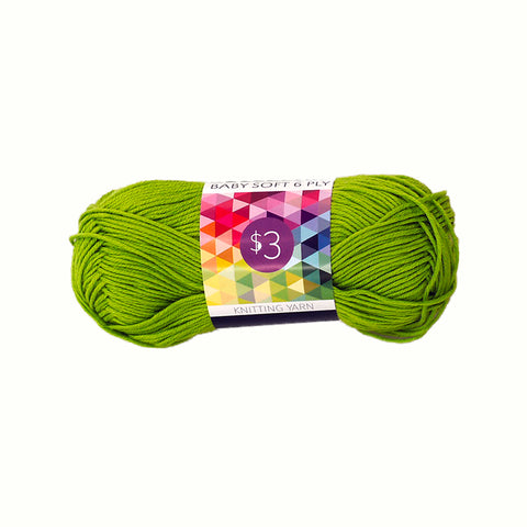 Knitting Yarn Baby Soft - Lime