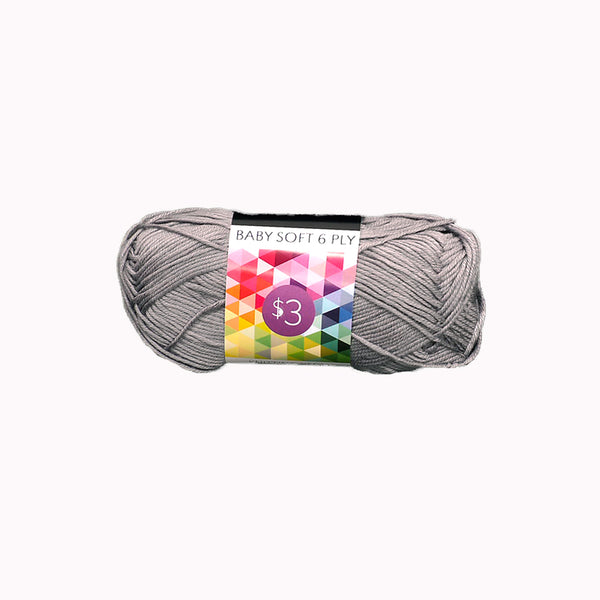 Knitting Yarn Baby Soft - Grey