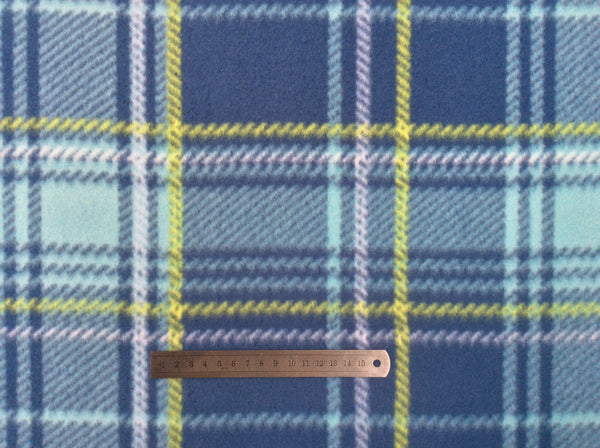 Printed Polar Fleece - Tartan Blue