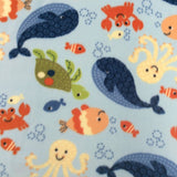 Printed Polar Fleece - Under The Sea