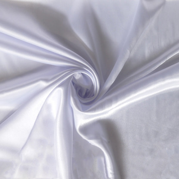 Satin charmeuse - White