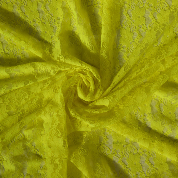Stretch Lace - Fluro Yellow