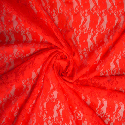 Stretch Lace - Fluro Orange