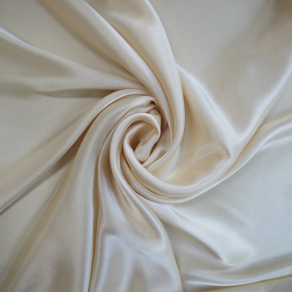 Stretch Satin - Ivory