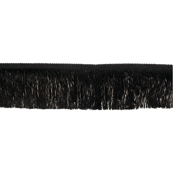 Silky Fringing 75mm - Black