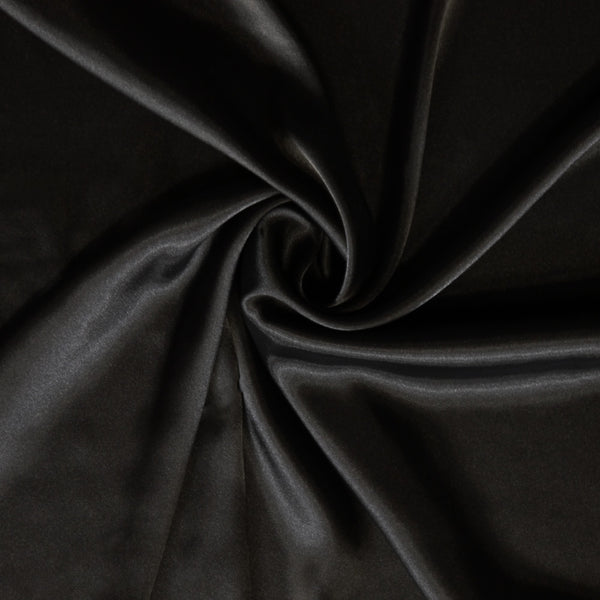 Satin charmeuse - Black