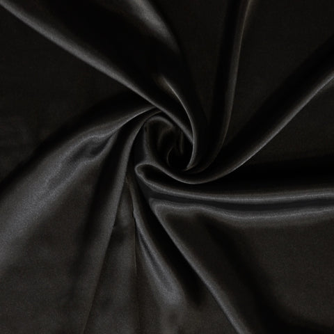 Stretch Satin - Black