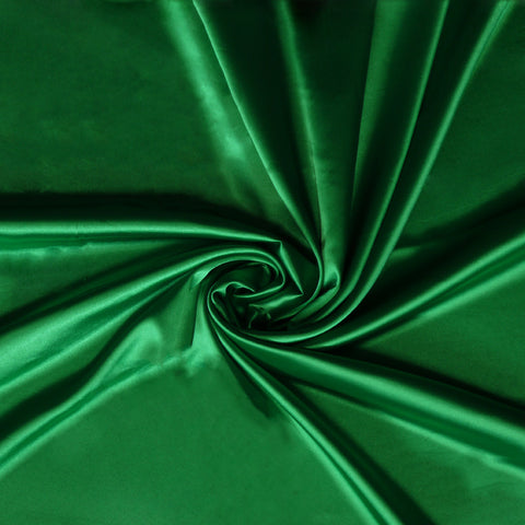 Stretch Satin - Emerald