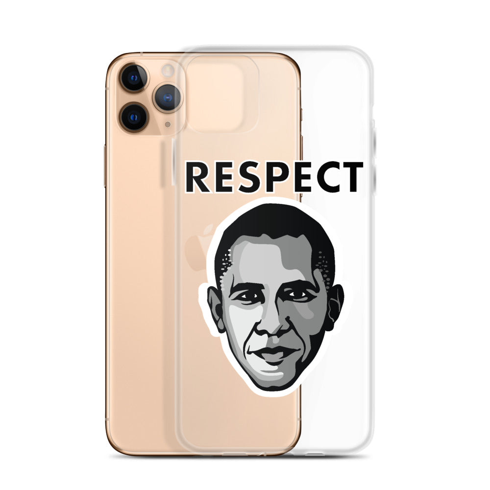 Cartoon Obama iPhone Case - Respect My Voice