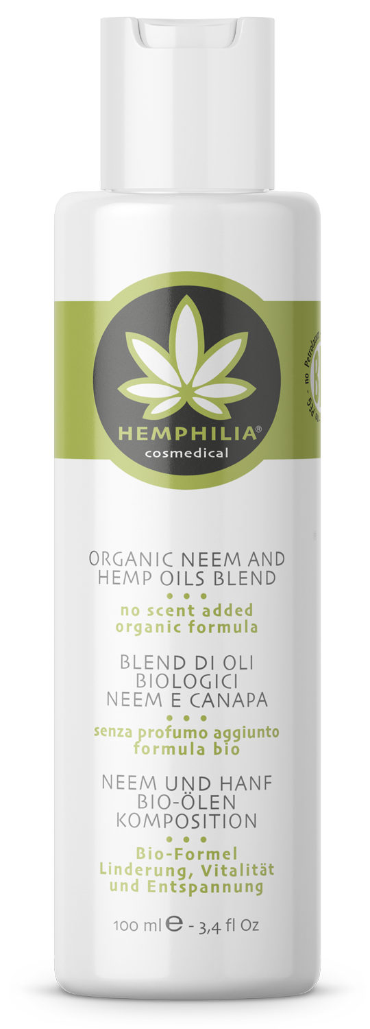 Organic neem and hemp oils blend