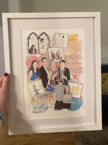 The final piece in a frame