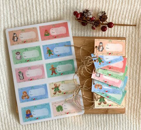 Christmas Gift Tags and Sticky Labels