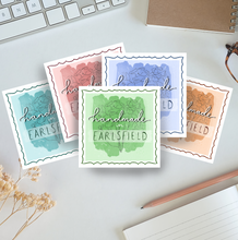 Load image into Gallery viewer, Handmade In '...' - Personalisable Stickers for Businesses