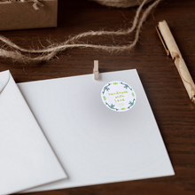 Load image into Gallery viewer, Blue handmade with love sticker on white envelope