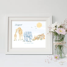 Load image into Gallery viewer, Safari Animals Nursery Wall Art