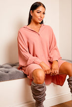 Load image into Gallery viewer, Oversize shirt dress SALMON PINK