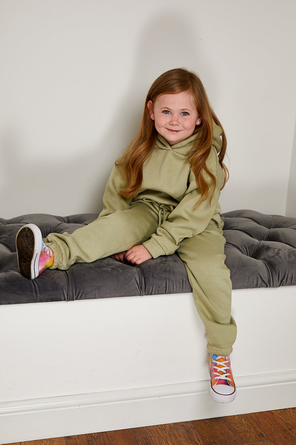 Mini Attire hooded jog suit SAGE GREEN