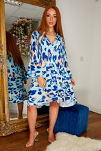 Load image into Gallery viewer, Ceia dress LEOPARD BLUE