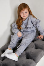 Load image into Gallery viewer, Mini Attire ruffles jogsuit GREY