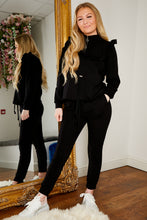 Load image into Gallery viewer, Frill jog suit BLACK