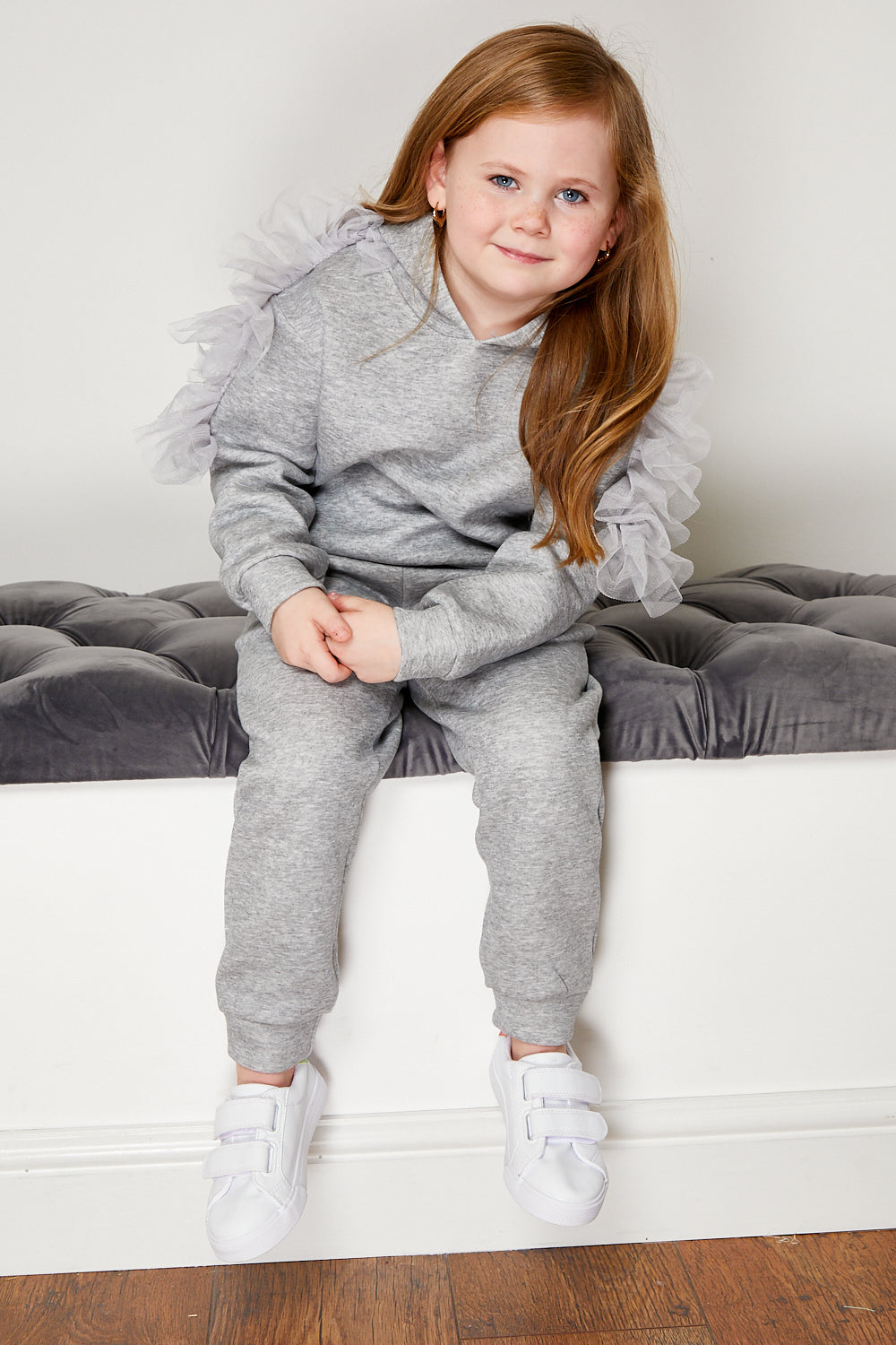 Mini Attire Twirl jogsuit GREY
