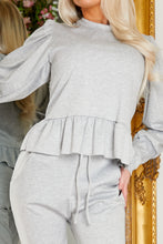 Load image into Gallery viewer, Puff sleeve jogsuit GREY