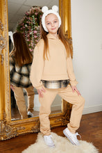 Load image into Gallery viewer, Mini Attire Shacket jog suit BEIGE
