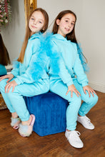 Load image into Gallery viewer, Mini Attire Flossy jog suit AQUA