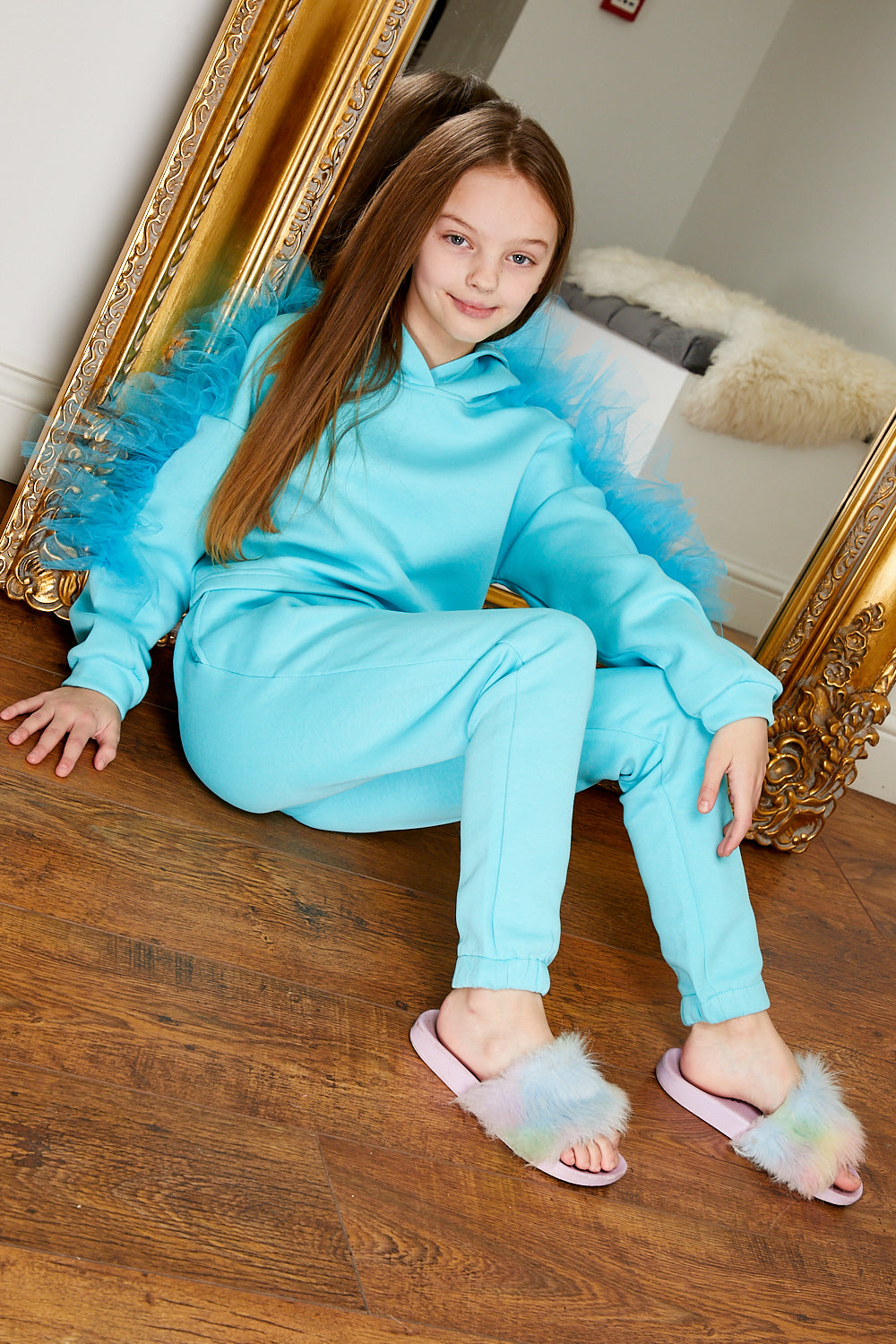 Mini Attire Flossy jog suit AQUA