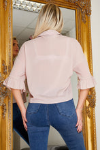 Load image into Gallery viewer, Ceila cropped blouse in MAUVE