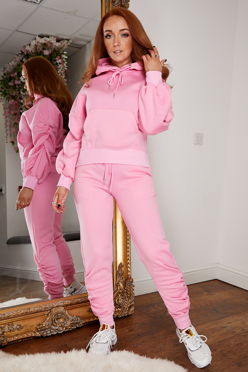 Ruched jog suit BUBBLE GUM PINK