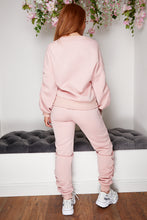 Load image into Gallery viewer, Chain ruched jog suit PINK