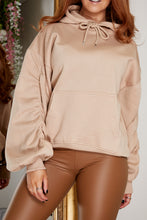 Load image into Gallery viewer, Ruched hoody BEIGE