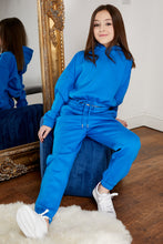 Load image into Gallery viewer, Mini Attire hooded jog suit ROYAL BLUE