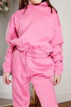 Load image into Gallery viewer, Mini Attire hooded jog suit HOT PINK