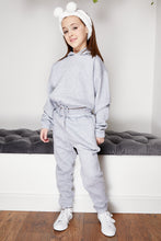 Load image into Gallery viewer, Mini Attire hooded jog suit GREY