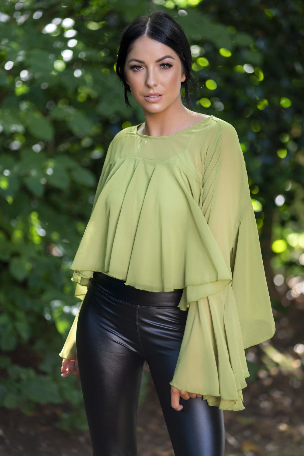 Sheek top green
