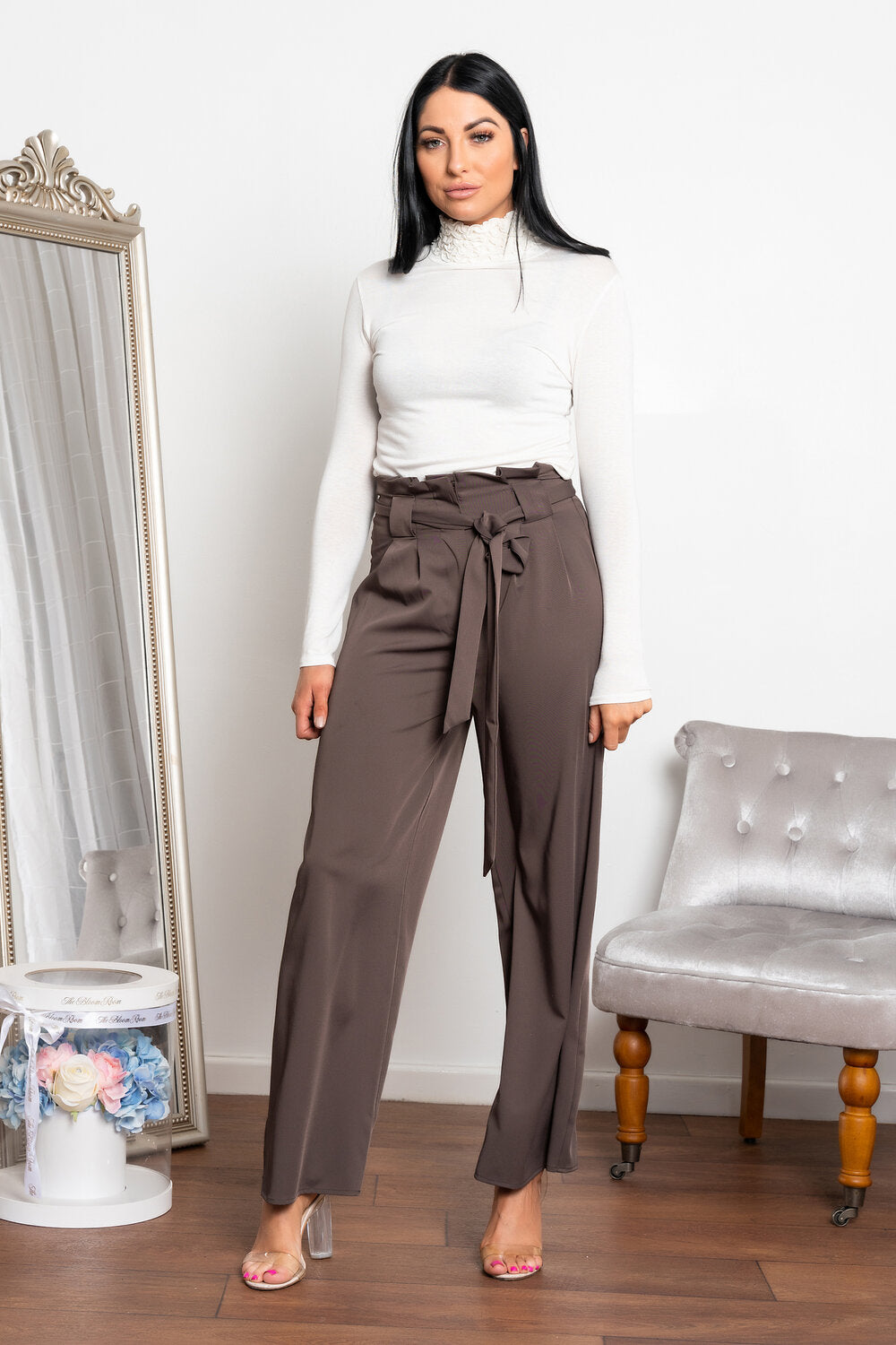 Naria wide leg trouser grey