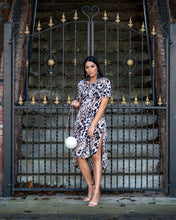 Load image into Gallery viewer, Voi leopard midi dress