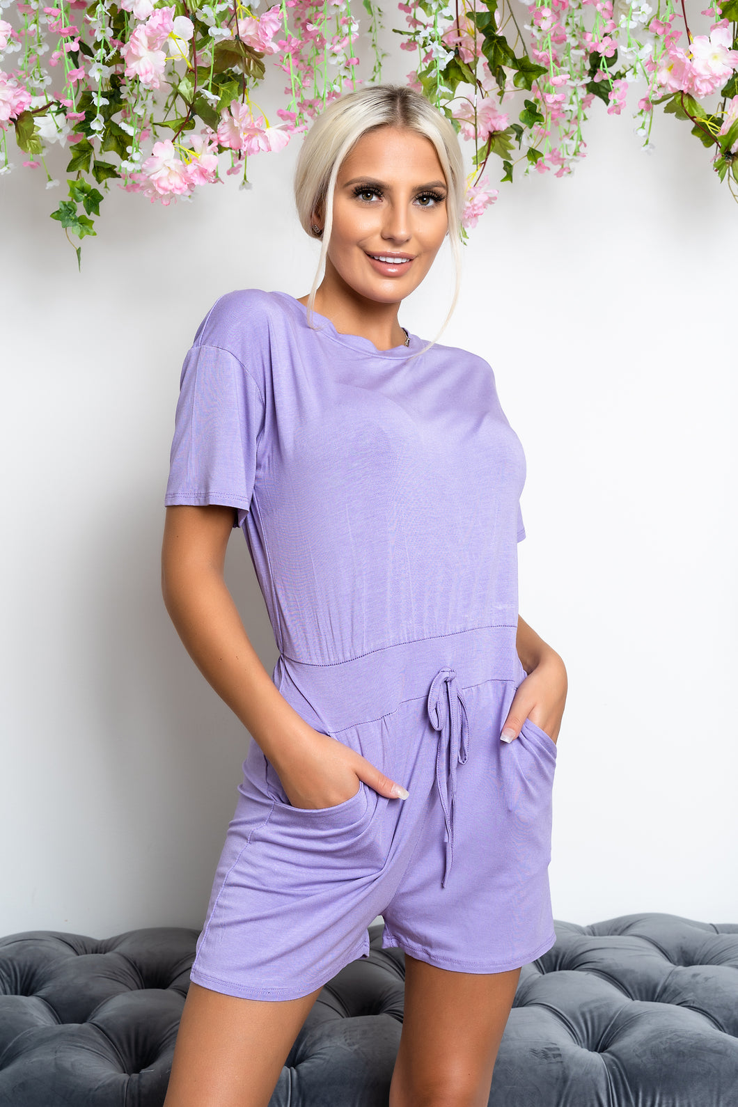 Cora playsuit LILAC