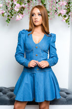 Load image into Gallery viewer, Donte denim mini dress