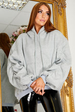 Load image into Gallery viewer, Oversized balloon sleeve hoody GREY