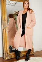 Load image into Gallery viewer, Balloon sleeve longline cardigan PINK