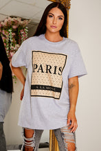 Load image into Gallery viewer, Oversized paris t shirt GREY